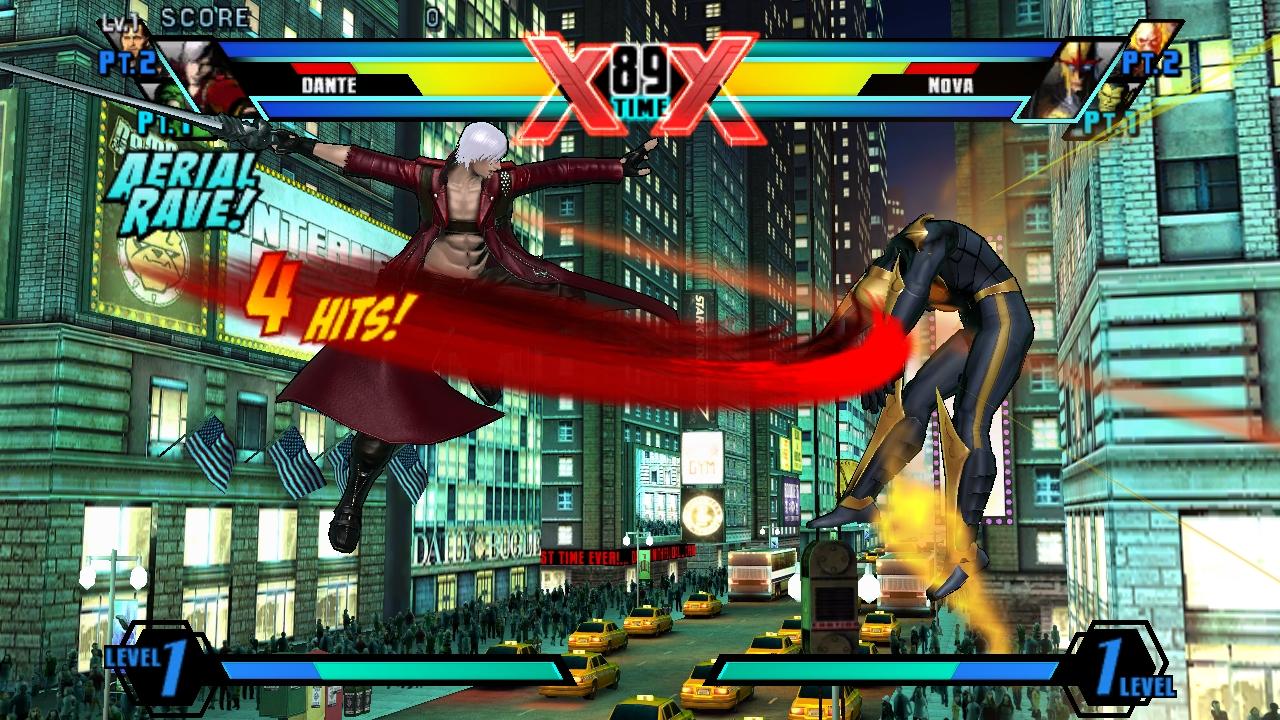 """Ultimate Marvel vs Capcom 3"" [PS Vita] - Dante - Air Combo"