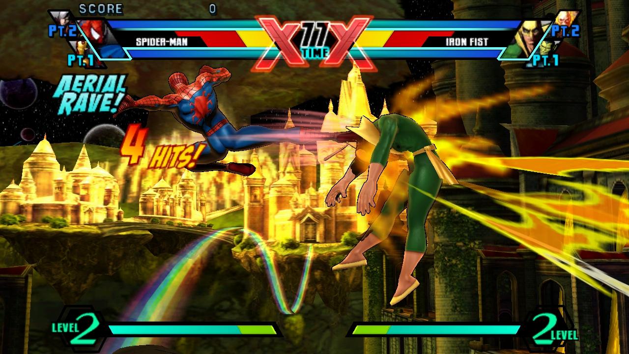 """Ultimate Marvel vs Capcpm 3"" [PS Vita] - Spider-man - Air Combo"